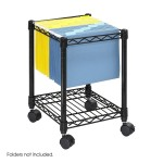 Safco Products 5277BL Compact Mobile File Cart