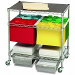 Seville Classics 3 Tier Mobile Letter Legal Office File & Utility Cart