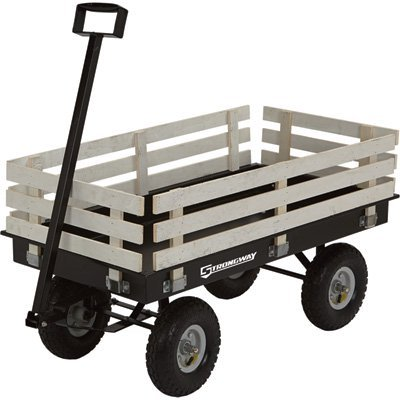 Strongway Garden Wagon With Rails