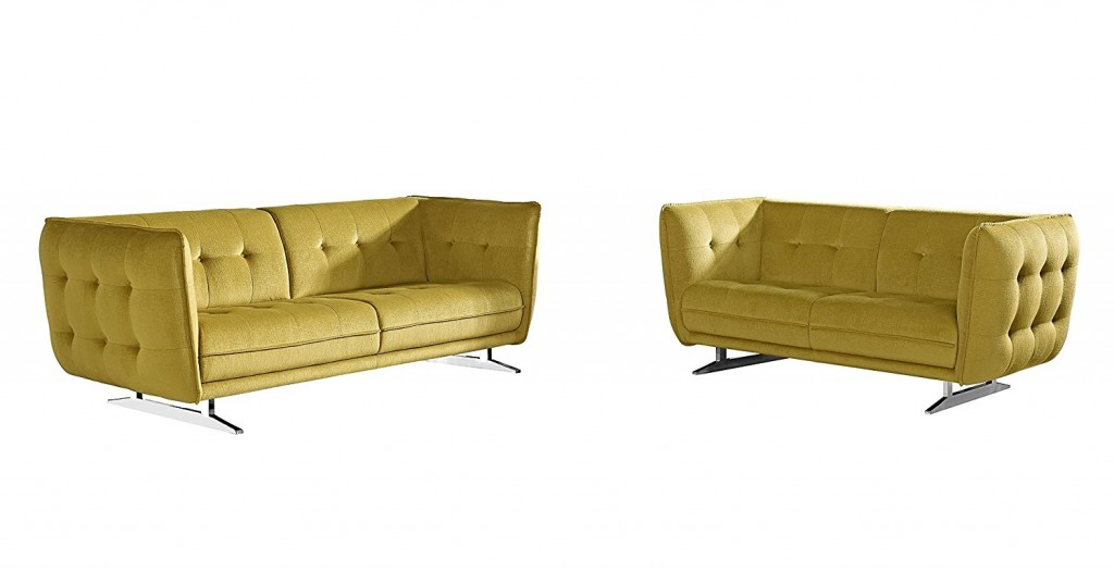 US Pride Furniture Lucas Fabric Sofa And Loveseat Set