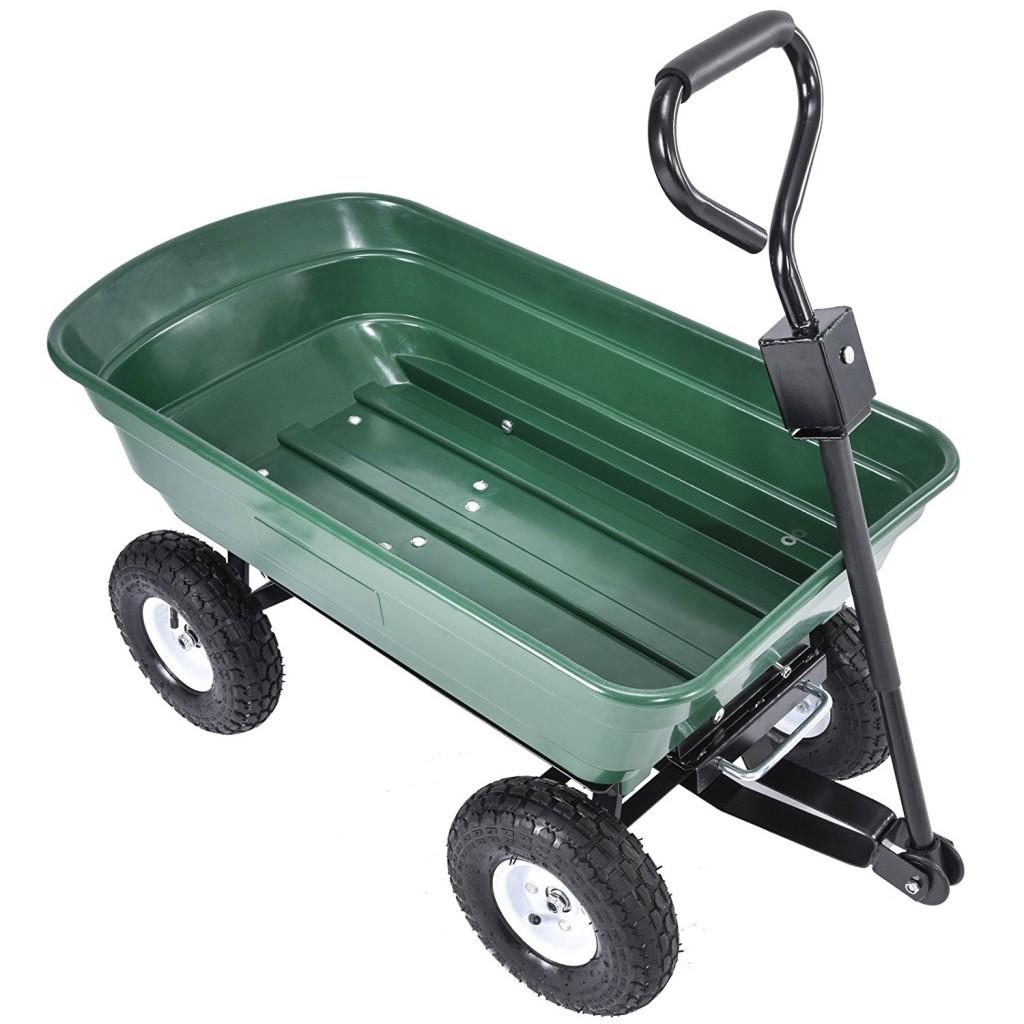 UenJoy Heavy Duty 660 Lb Garden Dump Cart