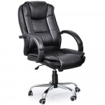 Yaheetech Adjustable High Back PU Leather Office Executive Chair