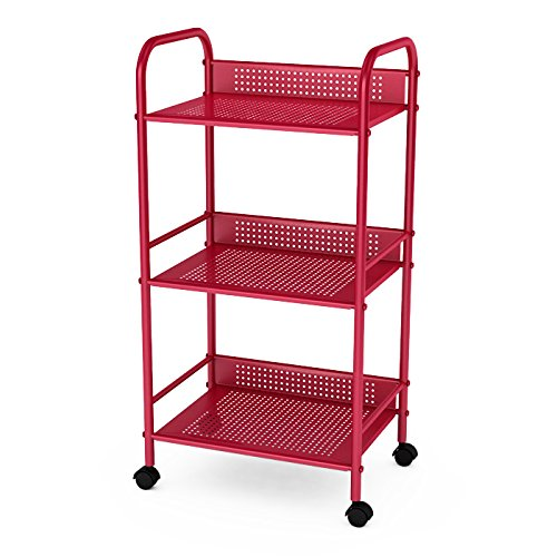 Dar Living 3 Tier Cart, Red