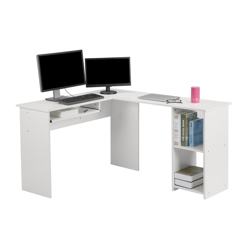 Mainstays L Shaped Desk With Hutch Multiple Finishes