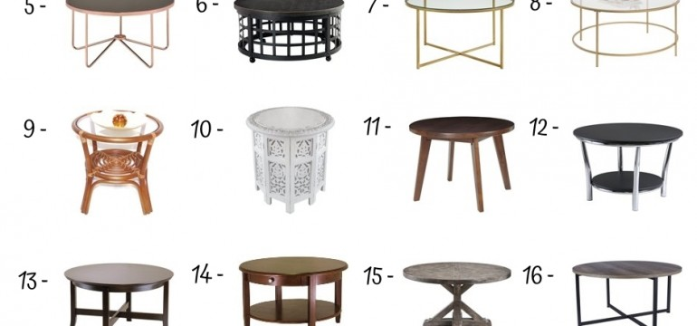 24 Best Round Coffee Tables