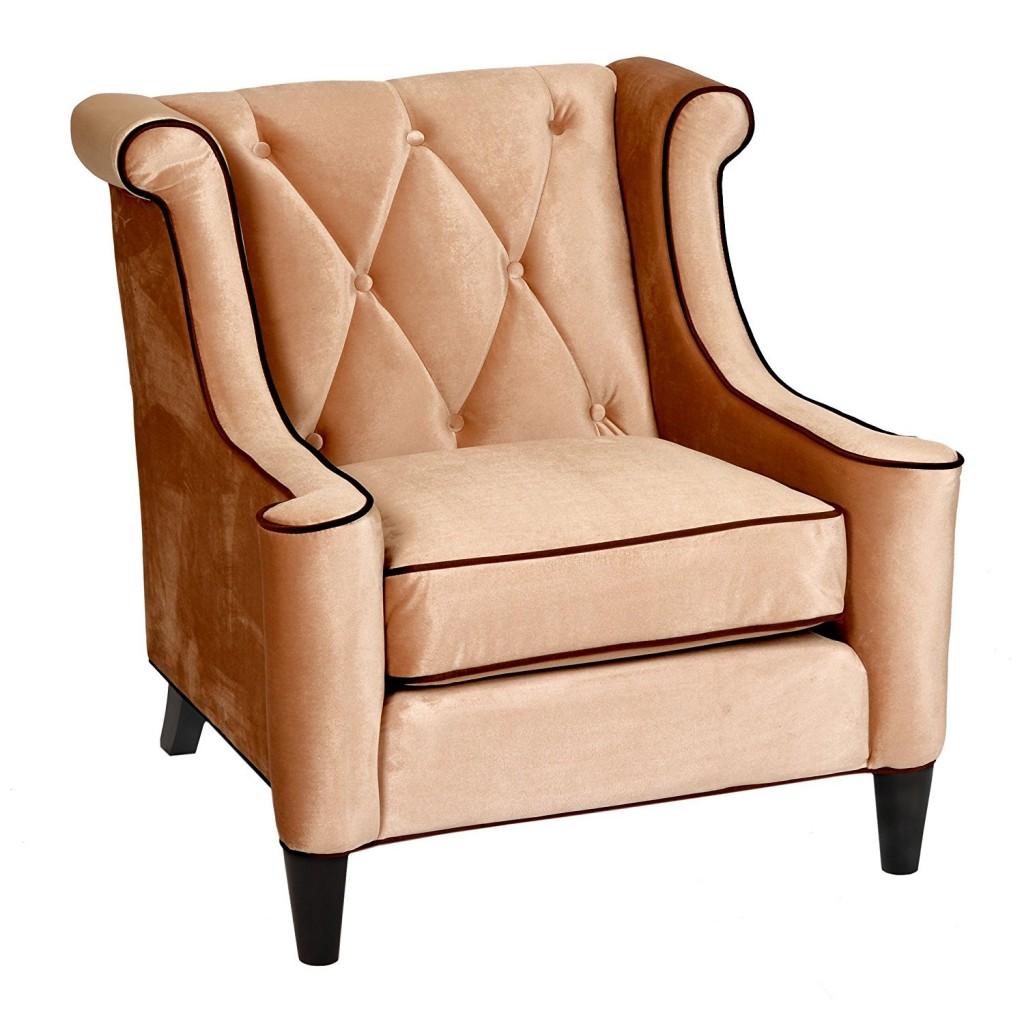 Armen Living LC8441CREAM Barrister Side Chair