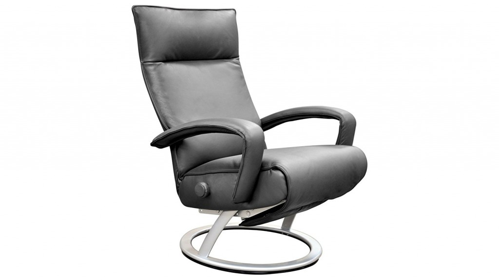 Gaga Grey Leather Adjustable Reclining Chair