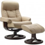 Leather Norwegian Ergonomic Scandinavian Lounge Reclining Chair
