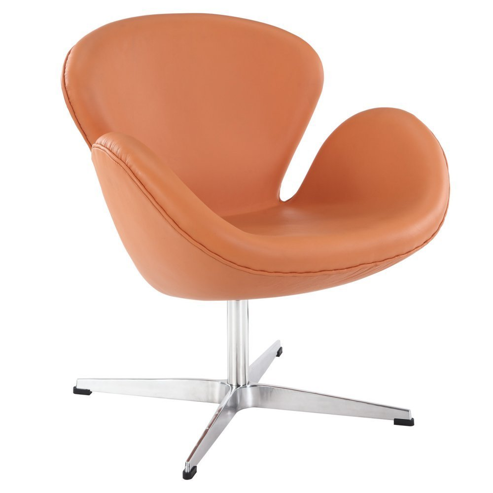 Modway Wing Leather Lounge Chair
