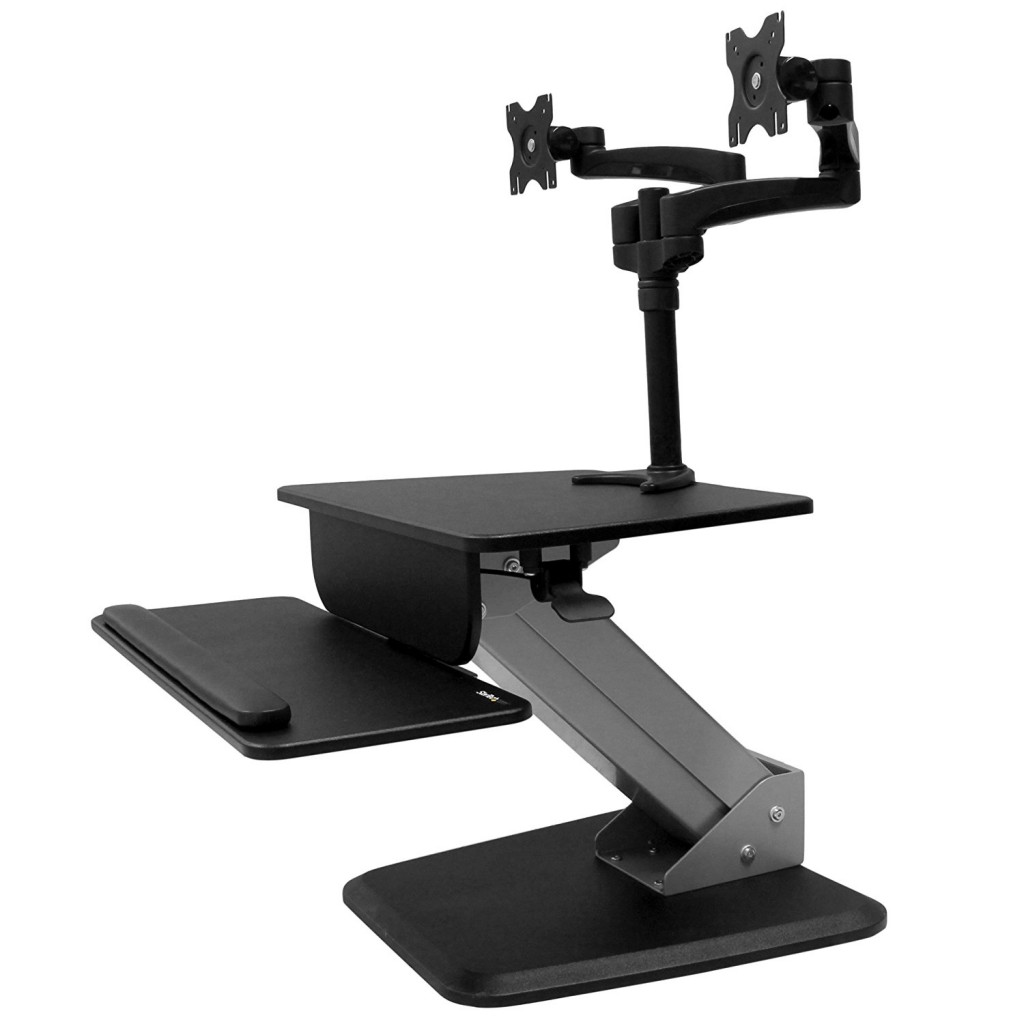 StarTech.com Dual Monitor Sit To Stand Workstation
