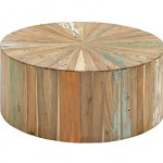 Reclaimed Wood Coffee Table Round