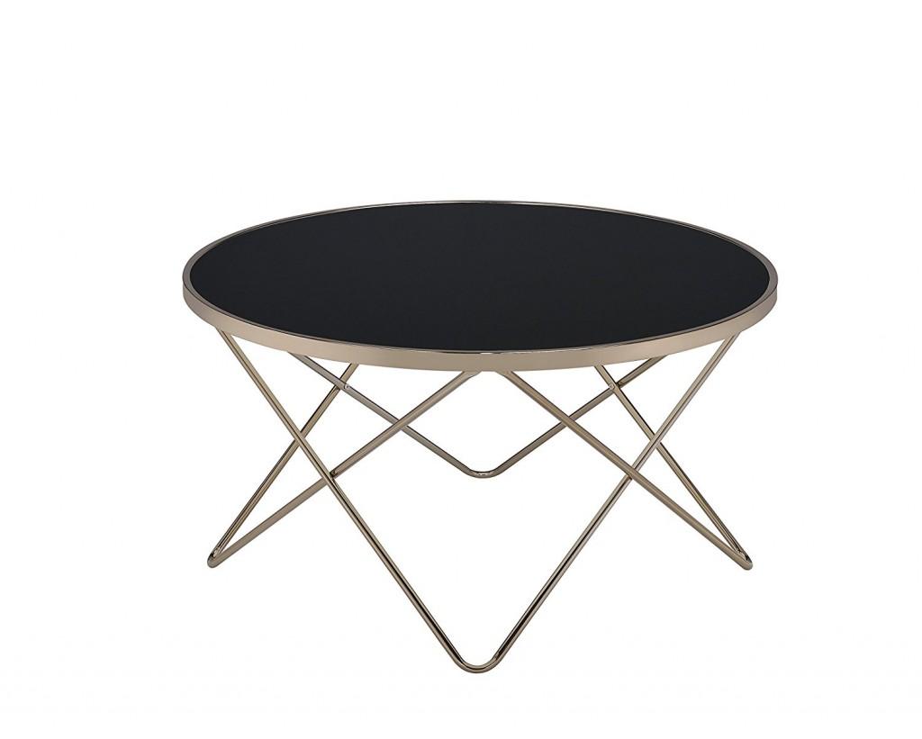 Round Mid Century Coffee Table