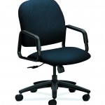 HON H4001.H.NT90.T Fixed Arms Center Tilt Solutions Seating High Back Chair,