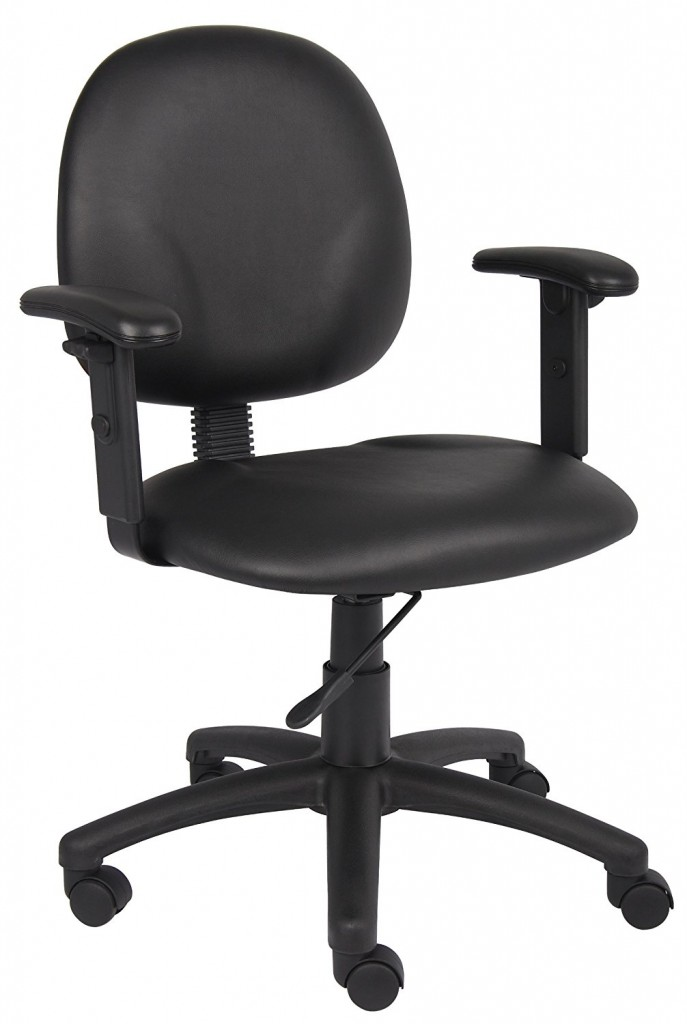 Mid Back Ergonomic Task Chair Without Arms Finish