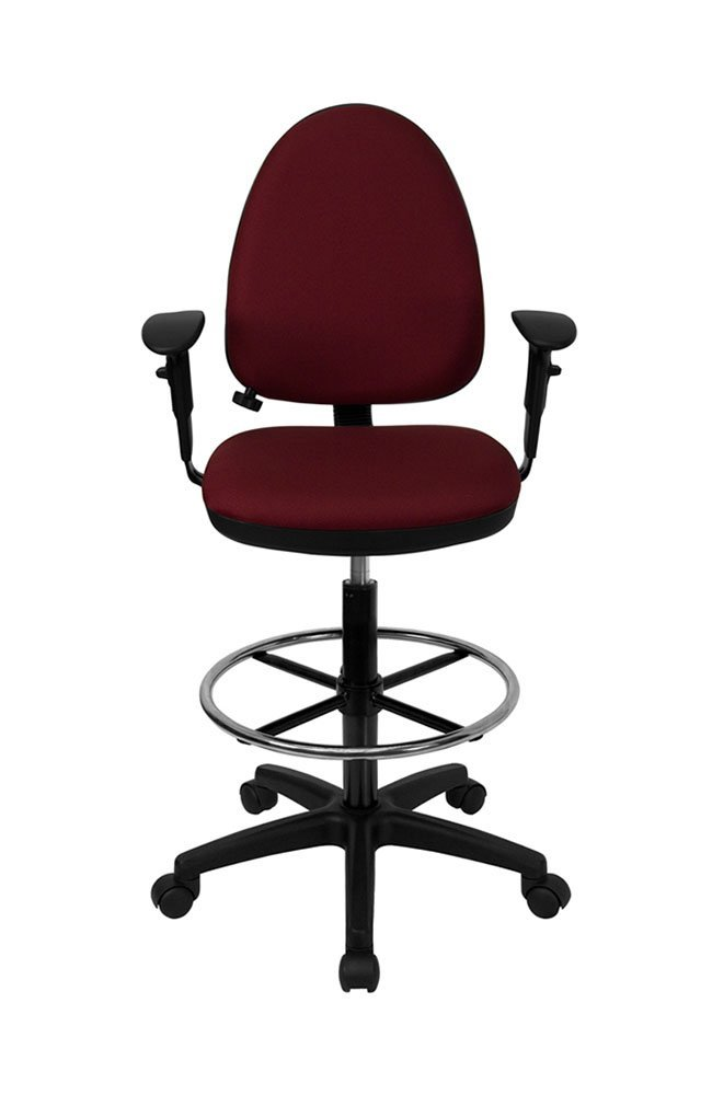 Mid Back Fabric Multi Functional Drafting Stool
