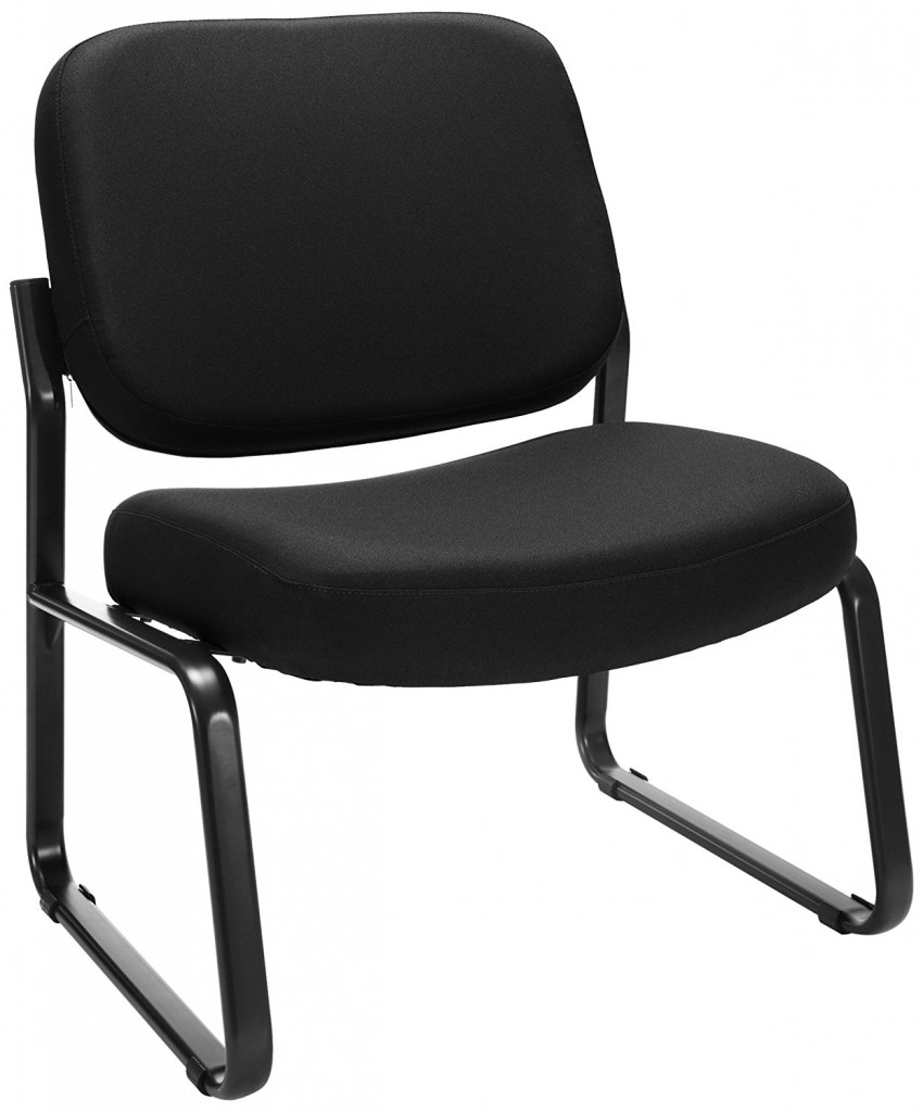 OFM Big And Tall Upholstered Armless Guest Reception Chair