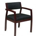Office Star Black Fabric Seat And Back Guest Chair