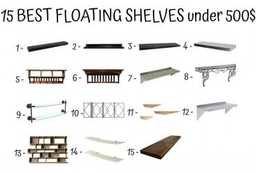 15 Best Floating Shelves Under 500$
