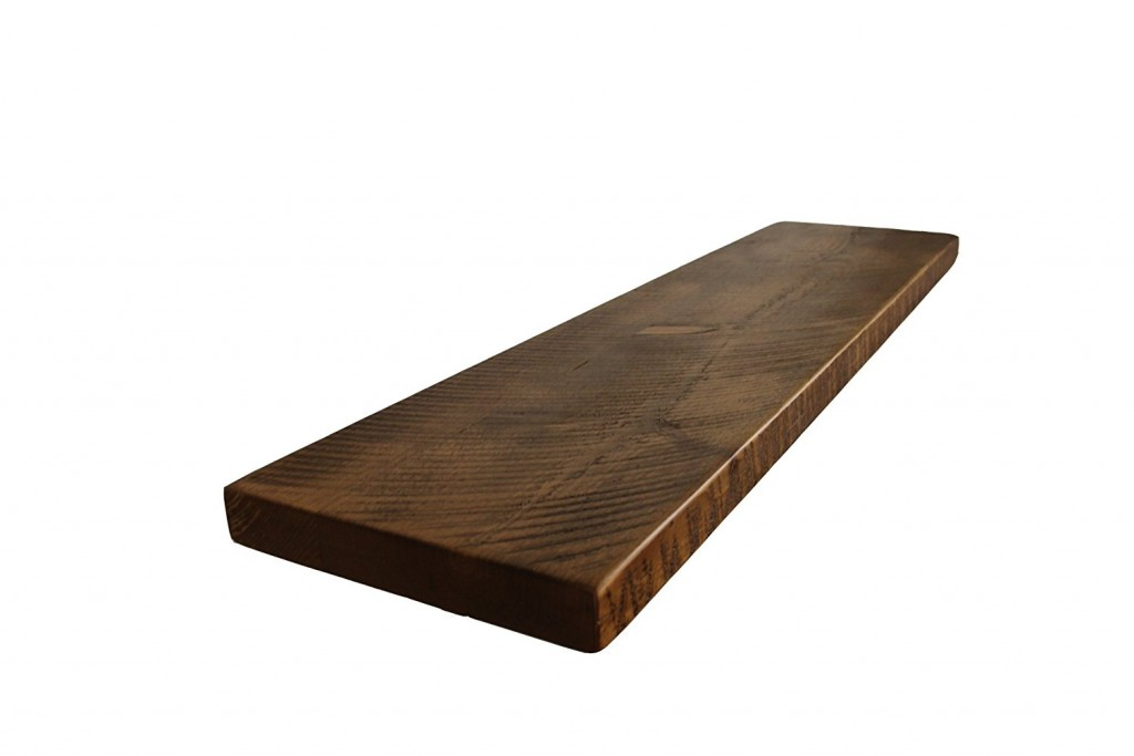 2 Thick X 12 Deep Mountable Rustic Solid Pine Shelf