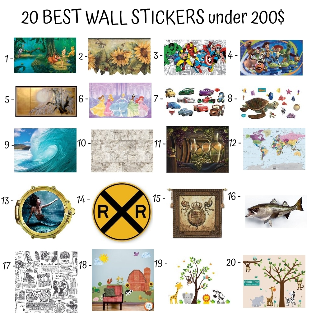 20 Best Wall Stickers Under 200$