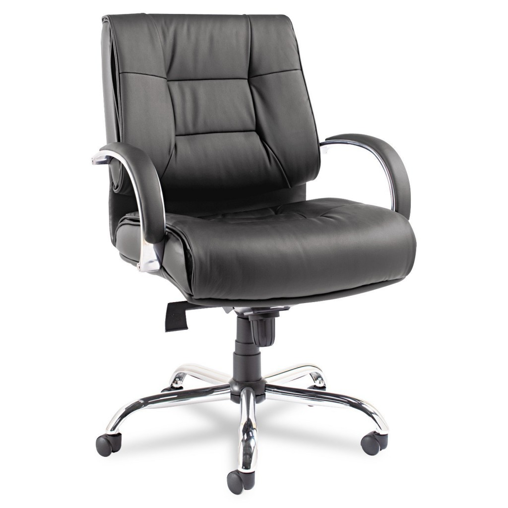 Alera ALERV45LS10C Ravino Big & Tall Series Mid Back Swivel Tilt Leather Chair