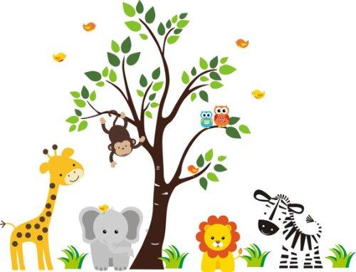 Baby Nursery Wall Decals Safari Jungle Childrens Themed