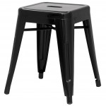 Chintaly Imports Black Galvanized Steel Backless Stools