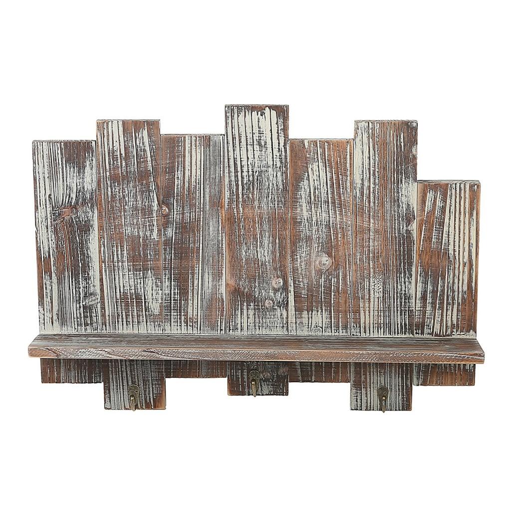 Distressed Barnwood Floating Shelf