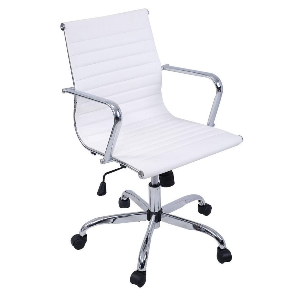 Giantex Modern PU Leather Ergonomic Mid Back Office Chair