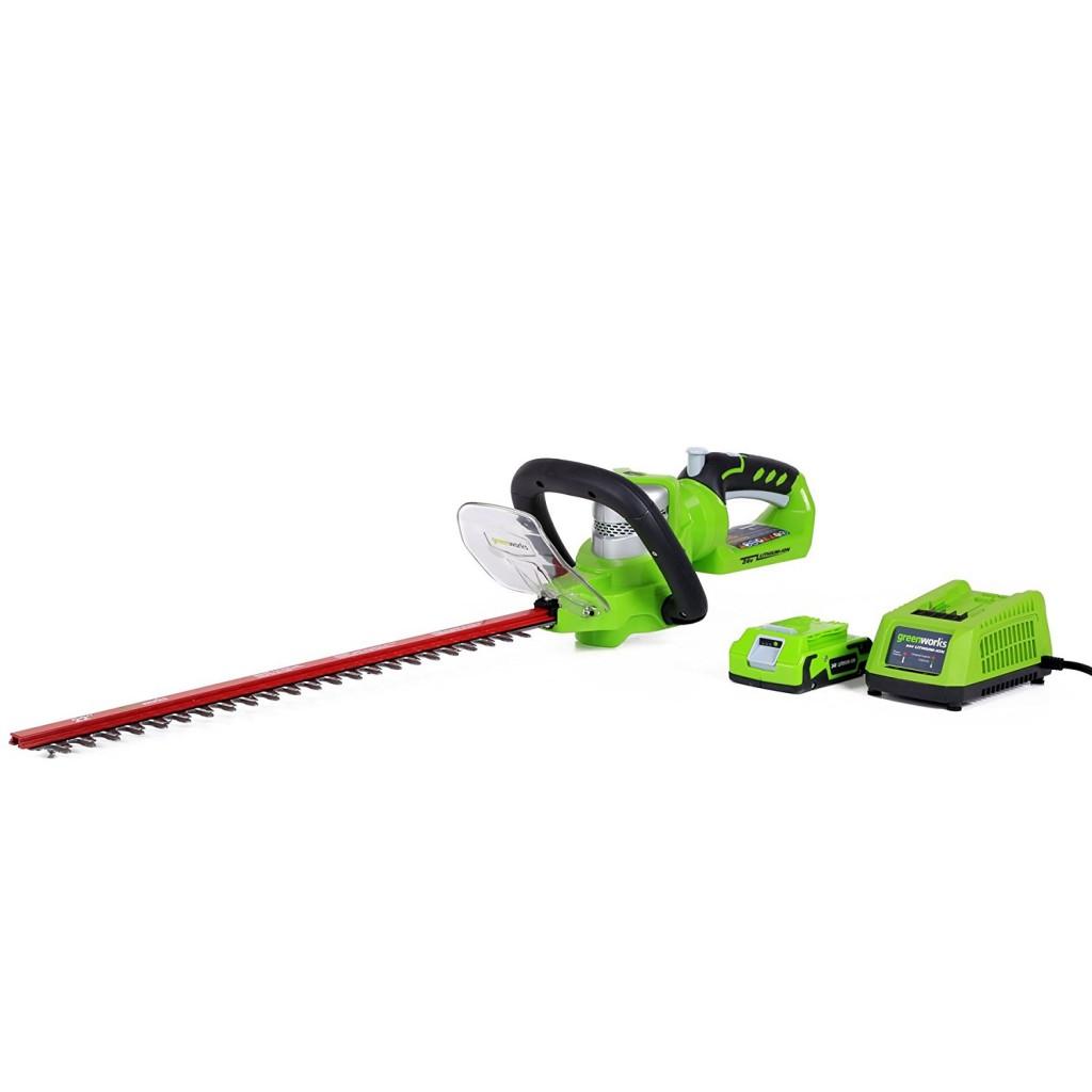 Greenworks 22 Inch 24V Cordless Hedge Trimmer