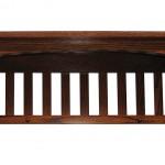 Mission Captain Shelf Solid Oak Wood Wall Mounted
