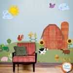My Wonderful Walls Repositionable And Removable Farm Theme Wall Sticker Kit