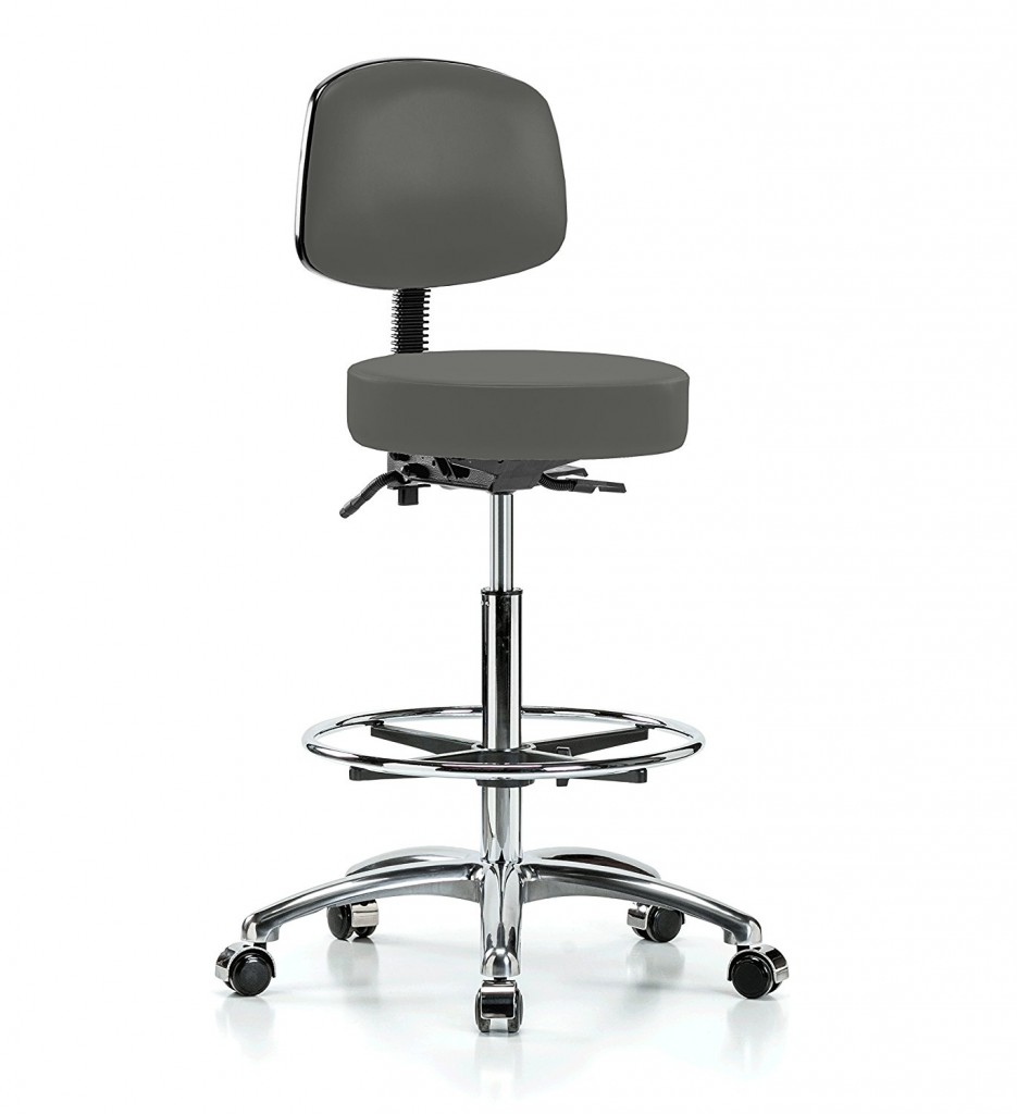 Perch Chrome Walter Rolling Doctor Stool