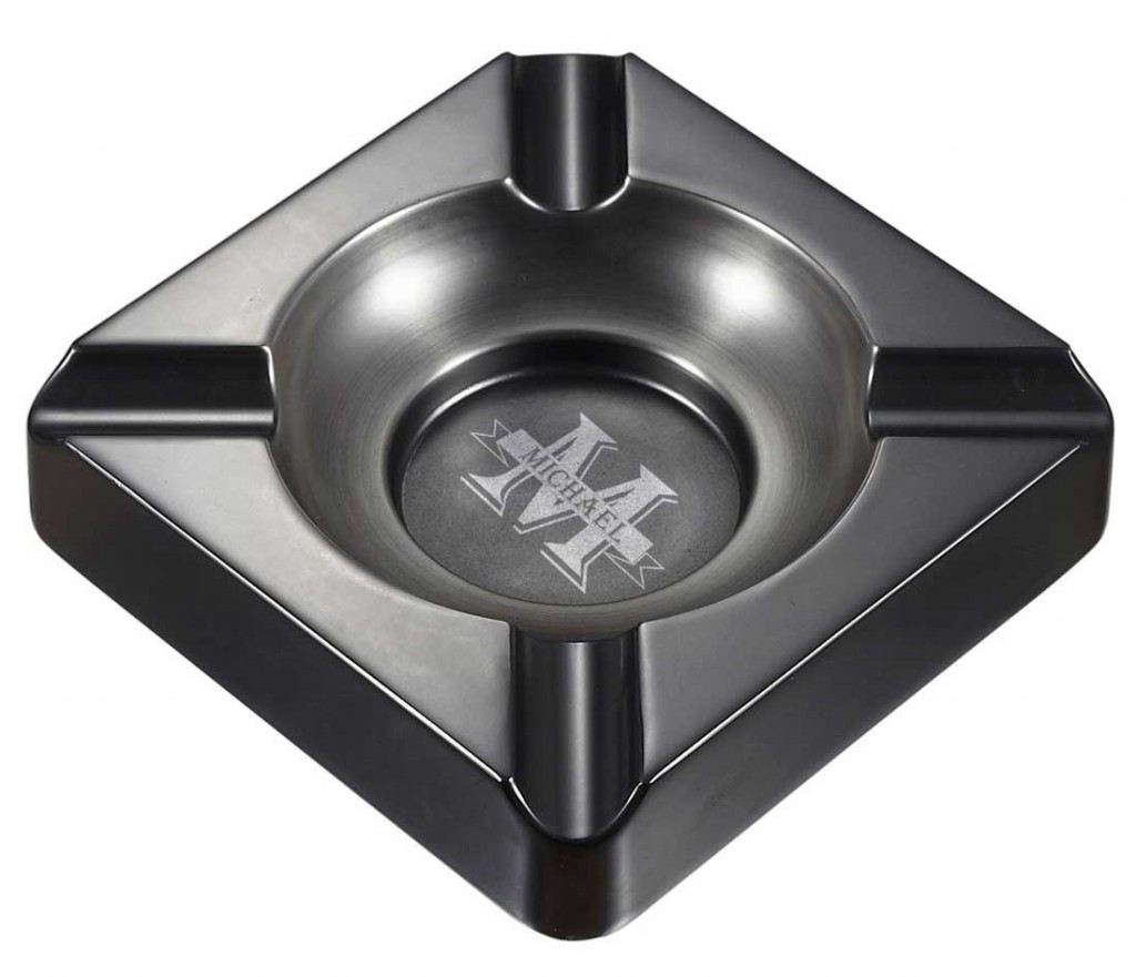 Personalized Groomsmen Visol Heavyweight Gunmetal Cigar Ashtray