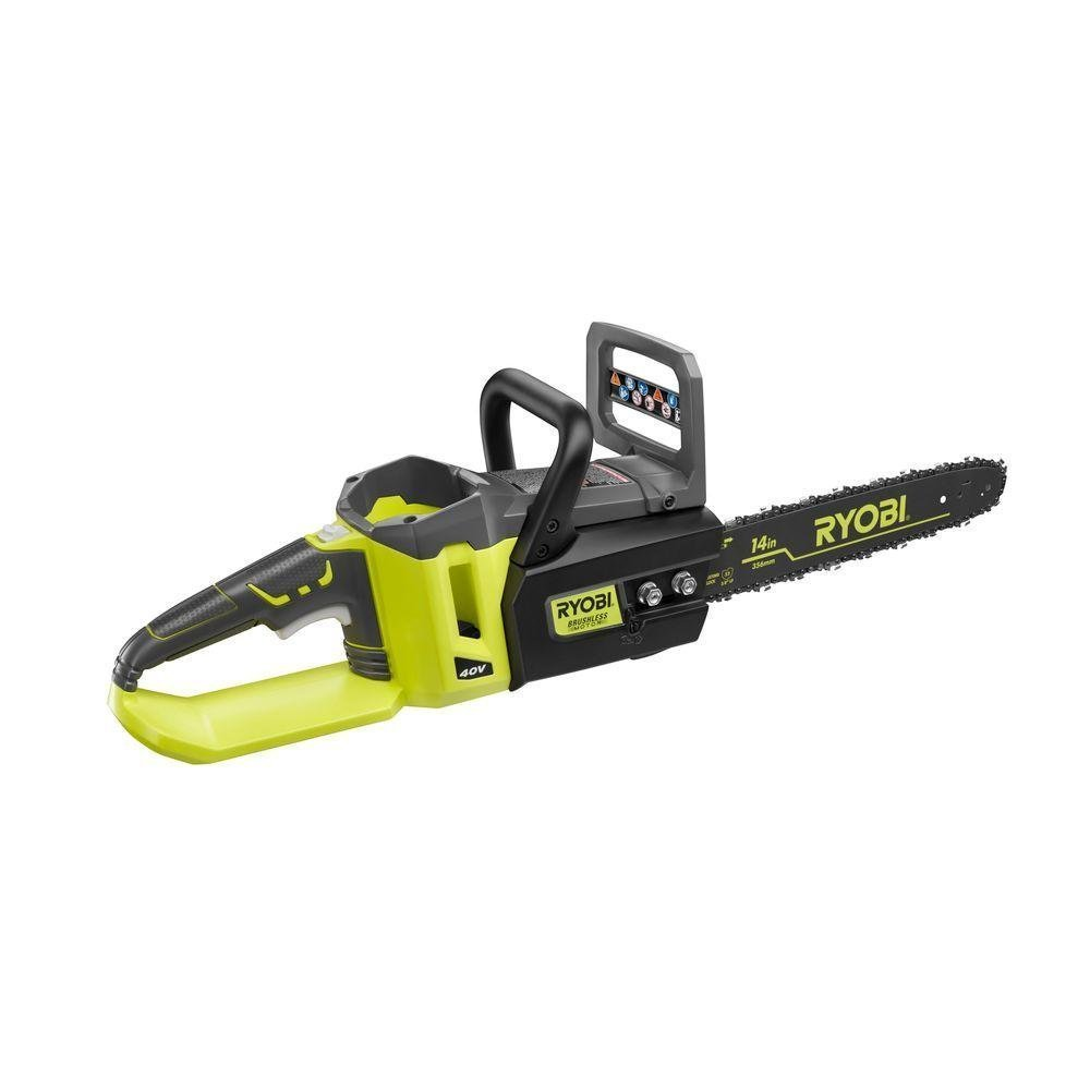 Ryobi 14 Inch 40 Volt Brushless Chainsaw Without Battery And Charger