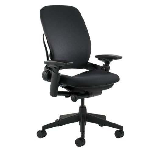 Steelcase Leap Chair, Black Fabric