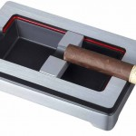 Visol Products VASH410 Noir En Rouge Metal Cigar Ashtray