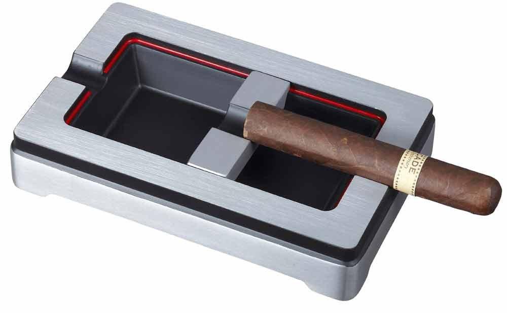 Visol Products VASH410 Noir En Rouge Metal Cigar Ashtray