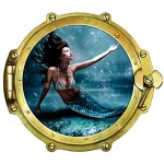 Walls 360 Peel & Stick Wall Decal Window Views Mermaid