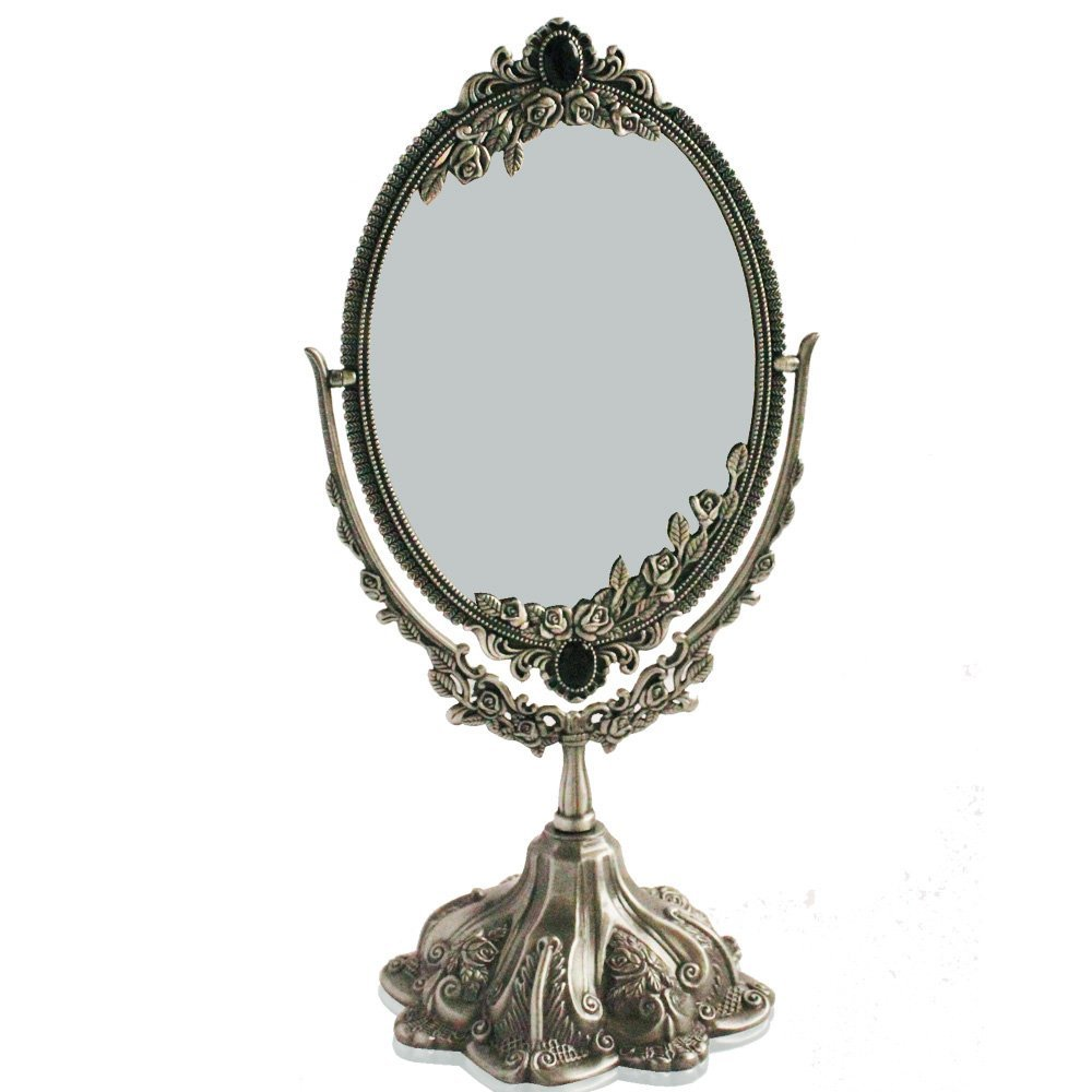 Antique Vanity With Mirror