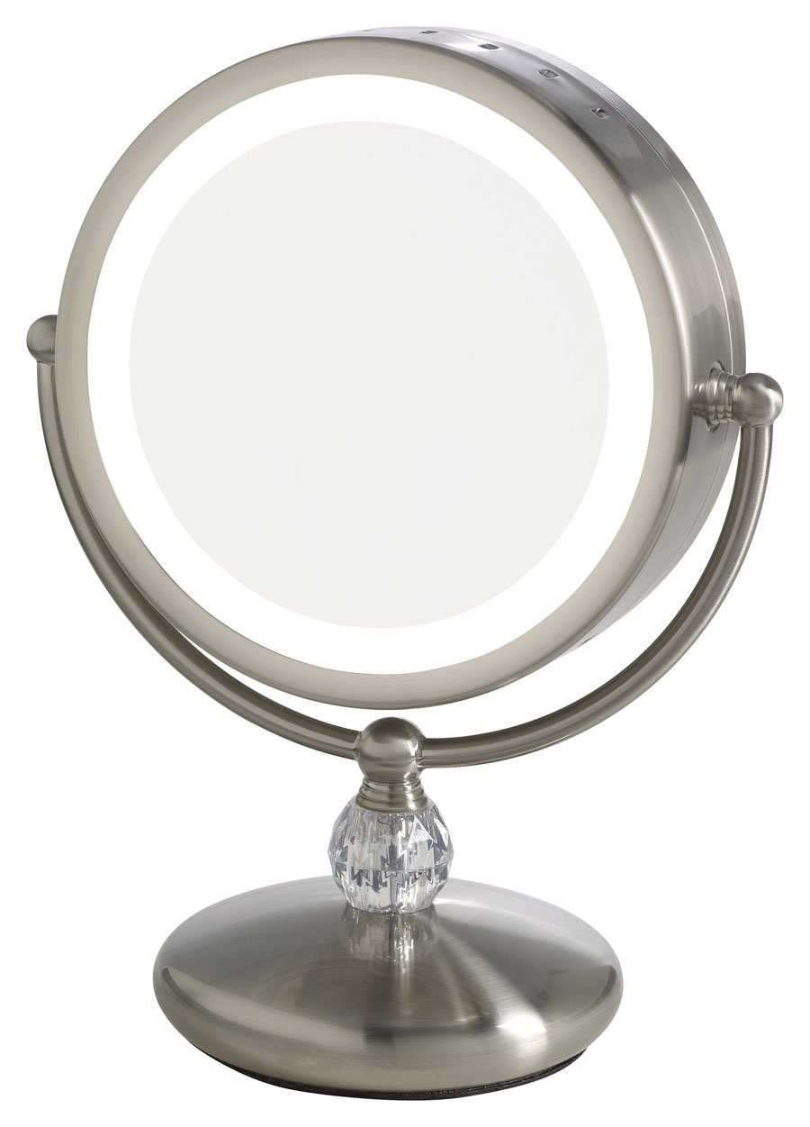Cheap Illuminated Bathroom Mirrors: Makeup Vanity With Lighted Mirror
