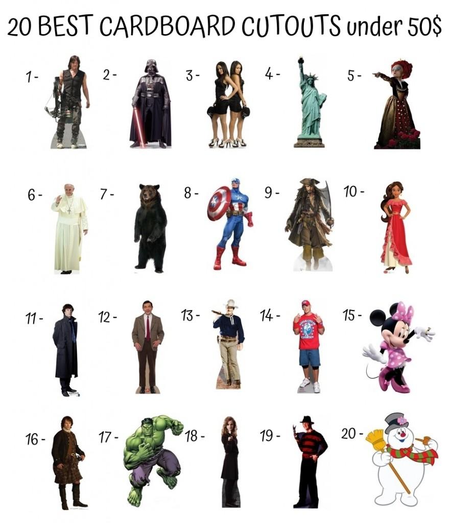 20 Best Cardboard Cutouts Under 50$