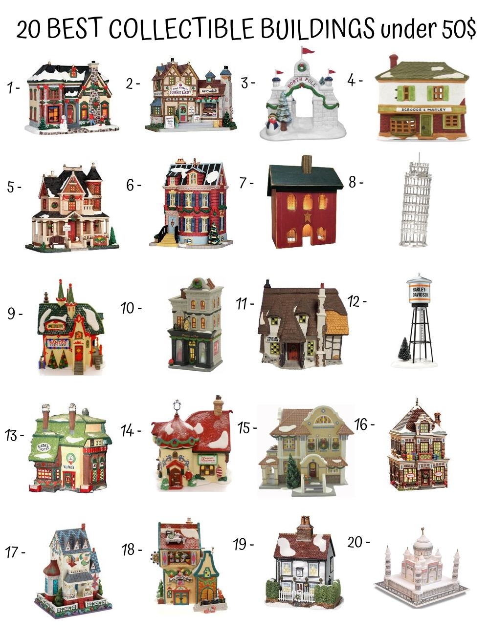 20 Best Collectible Buildings Under 50$