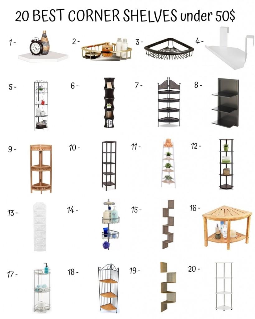 20 Best Corner Shelves Under 50$