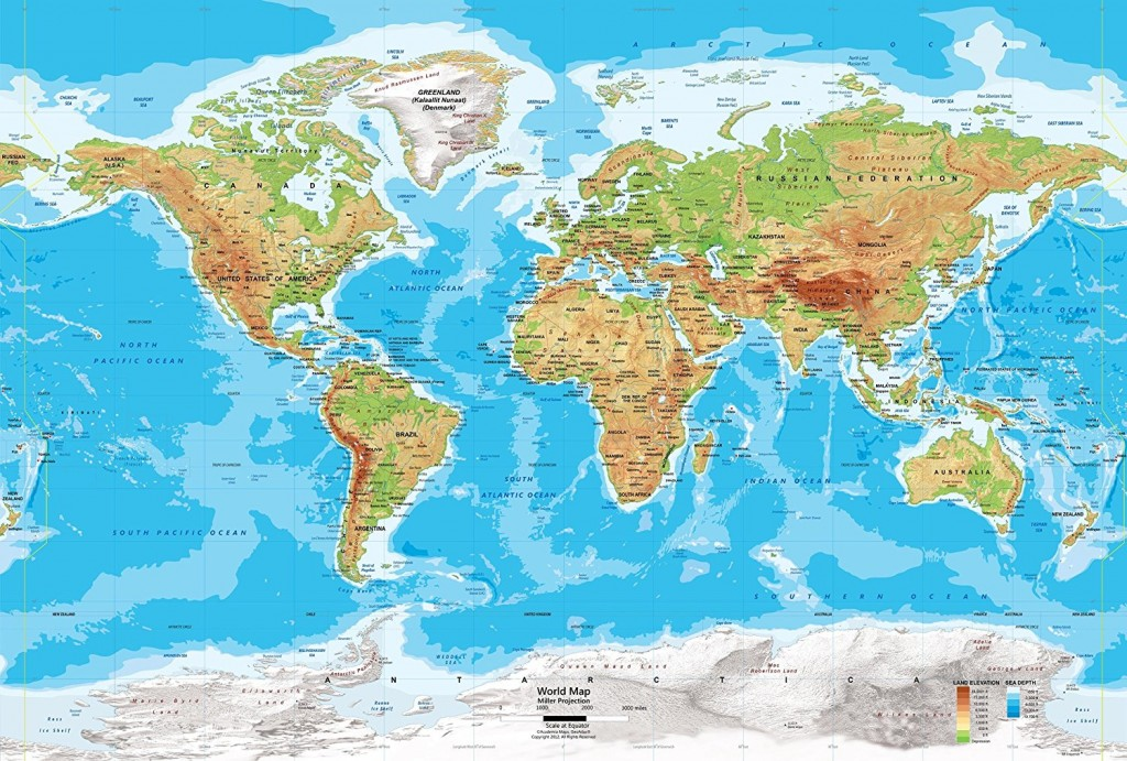 Academia Maps World Map Wall MuralS