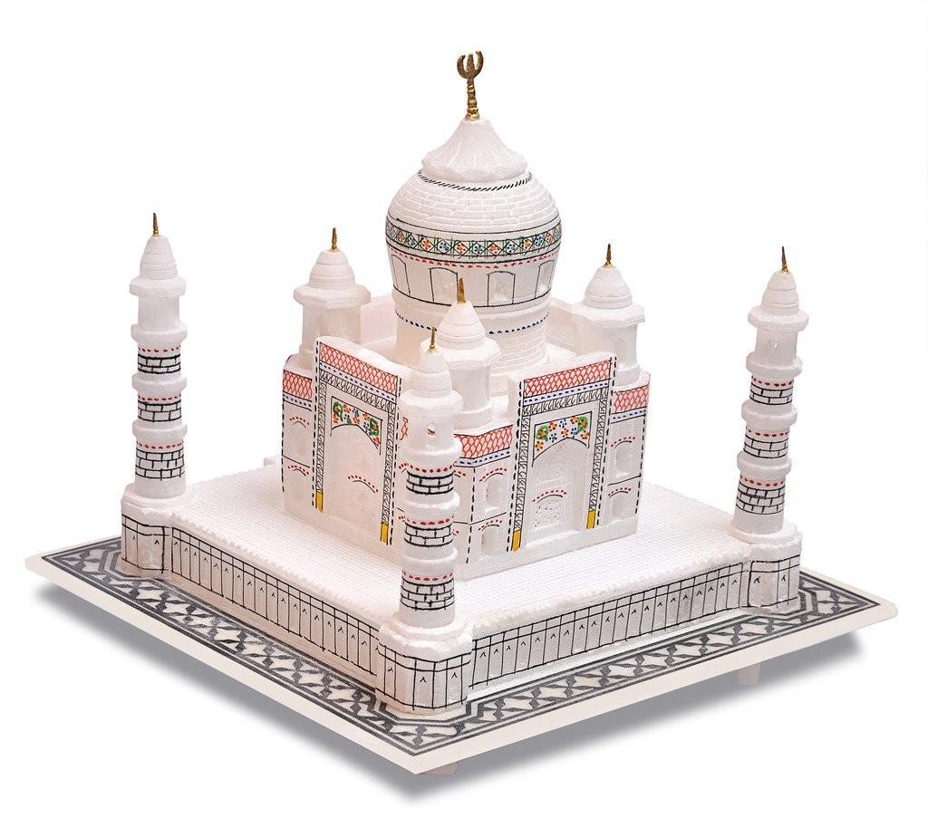 Artist Haat Handmade Taj Mahal Replica With Colourful Painting