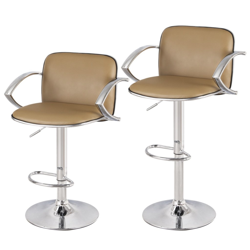 Asense Leather Height Adjustable Bar Stools Chair