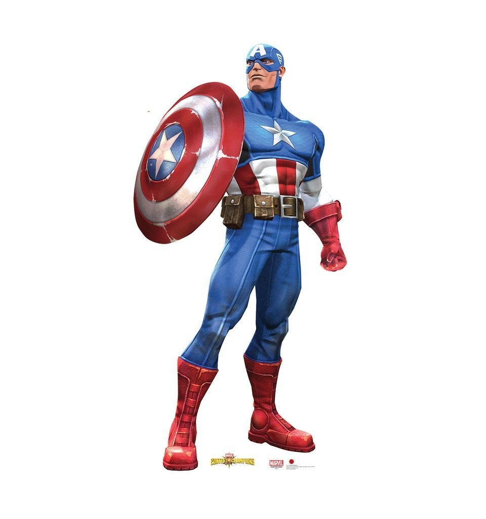 Captain America Marvel Contest Of Champions Advanced Graphics Life Size Cardboard Standup