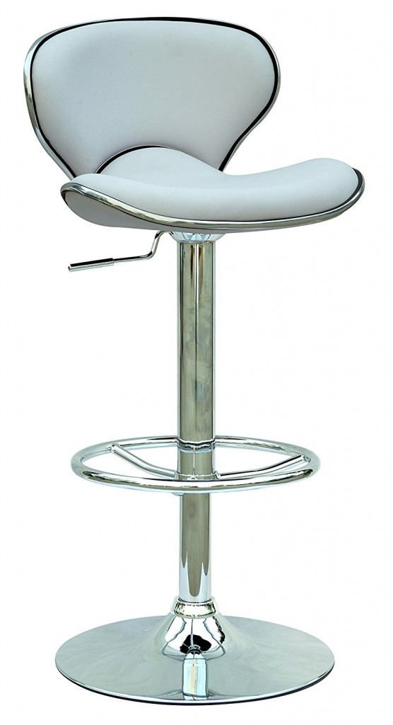 Chintaly Imports 0364 Pneumatic Gas Lift Adjustable Height Swivel Stool