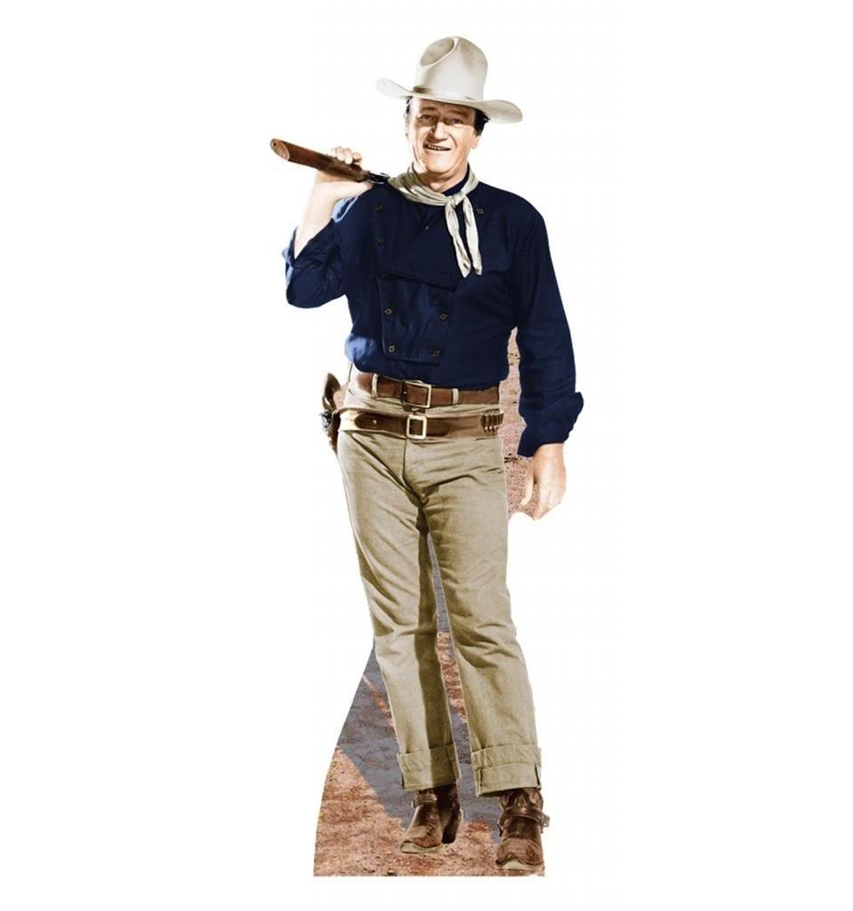 John Wayne Rifle On Shoulder Advanced Graphics Life Size Cardboard Standup